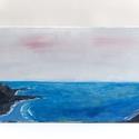 Vihar után, Képzőművészet, Festmény, Akril, Festészet, Akril festmény feszített vásznon, lakk fedőréteggel, 25x50 cm, Meska