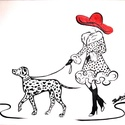 Olajfestmény - Dalmatás hölgy, Képzőművészet, Festmény, Olajfestmény, Festészet, Olajfestmény - Dalmatás hölgy  Mérete: 20x30 cm Technika: olaj Alap: feszített vászon  A Dalmatás h..., Meska