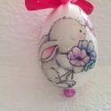 Tojás babás 3, Húsvéti díszek, Baba-mama-gyerek, Dekoráció, Decoupage, transzfer és szalvétatechnika, HÚSVÉTI  TOJÁS 3 Mint egy gyönyörűen festett húsvéti tojás , de nem törik el , tartós ,örök emlék m..., Meska
