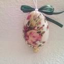 Húsvéti tojás  11, Húsvéti díszek, Dekoráció, Ünnepi dekoráció, Dísz, Decoupage, transzfer és szalvétatechnika, HÚSVÉTI  TOJÁS 11 Mint egy gyönyörűen festett húsvéti tojás , de nem törik el , tartós ,örök emlék ..., Meska