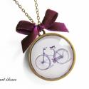"""Bicikli - nyaklánc :), Ékszer, Karácsonyi, adventi apróságok, Medál, Nyaklánc, """"Az élet olyan, mint a biciklizés. Nem lehet egyensúlyban tartani, ha egy helyben áll."""" (Linda B..., Meska"""