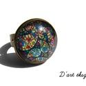 BOHÓ kollekció: gyűrű :), Ékszer, óra, Gyűrű, Ékszerkészítés, Ha nyár, akkor BOHÓ. Ennél vidámabb ékszereket keresve sem találsz. :))  Bronz színű szerelékkel ké..., Meska