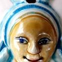 Székelyföldi nagy  Babba Mária, Képzőművészet, Magyar motívumokkal, Szobor, Kerámia, A terméket fehér agyagból készítettem, majd  kerámiamázzal díszítettem. A szobrocskát a sz..., Meska