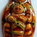 Babba Mária szobocska, A kis szobrocskát fehér agyagból készítettem,...