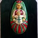 Székelyföldi nagy  Babba Mária, A terméket fehér agyagból készítettem, majd  ...