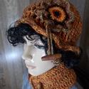 Arabella horgolt sapka/kalap nyakpánttal
