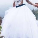 Menyasszonyi szoknya Akció, Ruha, divat, cipő, Esküvői ruha, Varrás, Külön nagy kedvenc ez a fehér habos tüll szoknyám amit nagy szeretettel terveztem mostanra már több..., Meska