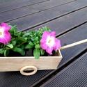 Fa taliga, kordé, Otthon & lakás, Dekoráció, Famegmunkálás, Ismét egy termék a méretpontos fa lemezekből, melyet bárki elkészíthet. A virág nem tartozék. :) A ..., Meska