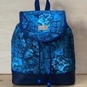 Kék pillangós vízálló női hátizsák