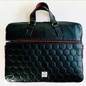 """Elegáns steppelt textilbőr """"EDIT"""" laptop táska , Elegáns fekete textilbőrből és fekete méhsejt..."""