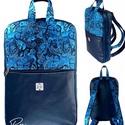 """Kék pillangós vízálló """"SZOFI"""" laptop hátizsák , Kék pillangós vízálló designer szövetből é..."""