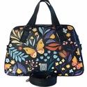 """Sárga pillangós textilbőr """"ZSUZSA"""" kézi és válltáska, Egy igazi klasszikus női táska! Sárga pillangó..."""