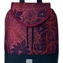 """Burgundi vörös vízálló """"JUDIT"""" hátizsák, Különleges burgundi vörös vízálló designer ..."""
