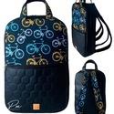 """Biciklis vízálló """"SZOFI"""" laptop hátizsák , Bicikli mintás vízálló designer szövetből é..."""