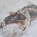 Gyöngyös hajdísz -  50 cm hosszú, Esküvő, Ruha, divat, cipő, Hajdísz, ruhadísz, Esküvői ruha, Ékszerkészítés, 50 cm hosszúságú tömör gyönyör, ami finom cseh tekla és swarovski gyöngyökkel van díszítve. A hajdí..., Meska