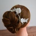 Hajdísz, Esküvő, Hajdísz, ruhadísz, Menyasszonyi ruha, Varrás, divatos csillogó hajdísz mely rövid hajban is jól mutat!   Használd bátran fátyollal vagy nélküle  ..., Meska