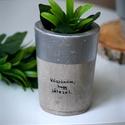 Üzenj zölden! - ezüst kaspó, Otthon & lakás, Lakberendezés, Kaspó, virágtartó, váza, korsó, cserép, Szerelmeseknek, Ünnepi dekoráció, Dekoráció, Nem kell elmondanod, nem kell leírnod, fejezd ki érzéseid egyszerűen egy maradandó üzenettel: beton ..., Meska