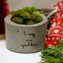 Karácsonyi kaspó - Te vagy az én ajándékom, Otthon & lakás, Karácsony, Lakberendezés, Kaspó, virágtartó, váza, korsó, cserép, Dekoráció, Ünnepi dekoráció, Karácsonyi dekoráció, Tökéletes karácsonyi ajándék szerettednek.  Nem kell elmondanod, vagy leírnod érzéseid, a kaspó besz..., Meska