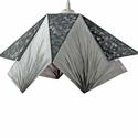 """""""Origami"""" lámpa, Otthon & lakás, Lakberendezés, Lámpa, Fali-, mennyezeti lámpa, Ez a modern lámpabura egy nagyon különleges kiegészítője lehet otthonodnak. Határozott geometrikus v..., Meska"""