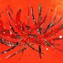 Narancs Absztrakt, Otthon, lakberendezés, Falikép, Festészet, Egyedi - kézzel készített - vászonra festett akrilfestmény . Mérete : 60 cm x 90 cm Keretet nem igé..., Meska