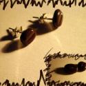 Kávébab fülbevaló., Ékszer, Fülbevaló, Medál, Gyurma, Mindenmás, Ki ne szeretné a kávét? A kis kávébab fülbevaló nagyon szépen illeszkedik a fülhöz. Igazán jól muta..., Meska