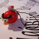 Angy Birds dísz, Ékszer, Mindenmás, Mobilékszer, Nyaklánc, Ékszerkészítés, A híres játékból / filmből készült plüss alapján. :), Meska