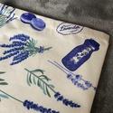 Levendulás kenyeres zsák, A tasak egyik oldala pamutvászonból, míg a bels...