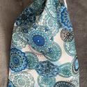 kék mandalás kenyeres zsák, A tasak egyik oldala pamutvászonból, míg a bels...