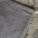 Fekete fehér kenyeres zsák (30x45 cm) , A tasak egyik oldala pamutvászonból, míg a bels...