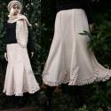 HARANGVIRÁG szoknya  - lolita lagenlook fashion design, Puha, meleg polárból készítettem ezt a fodrocs...