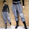 ELVIRA flanelnadrág  - lagenlook fashion design, Ruha, divat, cipő, Női ruha, Nadrág, Varrás, Puha, meleg, halszálkaminta-szövésű pamutflanelből készítettem ezt a kedvelt fazonom: Aszimmetrikus..., Meska