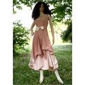 OPHÉLIA ombre design-ruha, Ruha, divat, cipő, Női ruha, Ruha, Bolyhozott, nehéz nyersvászonból készítem ezt a látványosan-egyszerű princessz-fazonú modellem, majd..., Meska