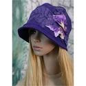 IBOLYA  cloche - iparművész flapper kalap, Ruha, divat, cipő, Női ruha, Kendő, sál, sapka, kesztyű, Sapka, Gyönyörű, ibolya-lila vintage selyemszövetből készítettem ezt a flapper-kalapot.  Sikkesen mélyen fe..., Meska