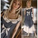 OPHÉLIA ruha  - vintage lolita style fashion design, Ruha, divat, cipő, Képzőművészet, Női ruha, Textil, Bolyhozott, nehéz nyersvászonból (barchend) készítem ezt a látványosan-egyszerű, vintage hangulatú, ..., Meska