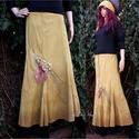 KATRINA - design-szoknya , Ruha, divat, cipő, Női ruha, Szoknya, Puha, bolyhozott pamutvászonból terveztem és kézzel festettem ezt a romantikus modellem. Egyszerű, l..., Meska