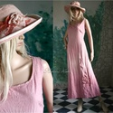 AKVARELLA design-ruha, Ruha, divat, cipő, Női ruha, Ruha, Jó tartású, bolyhos felületű pamutvászonból készítettem ezt az egyszerű A vonalú, karcsúsított hossz..., Meska