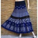 BORDŰRÖS kékfestő szoknya , Romantikus, vékony nőknek ajánlom ezt az '50-es...