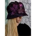 MARGITKA - design-kalap, Különleges, tüll-borítású vászonból tervez...