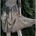 PAMÉLA - selyemszoknya , Ruha, divat, cipő, Női ruha, Szoknya, Varrás,  a PILLE-CUCC Lehelet-könnyű, mosással-gyűrt viszkóz-selymekből készült darabjaim nyári ruhatárad k..., Meska