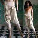 CSIBI - design-nadrág , Ruha, divat, cipő, Női ruha, Kismamaruha, Nadrág, EXTRAVAGÁNS NŐKNEK!  A háremnadrágok stílusában készítettem ezt a vagány, viszkóz-jersey anyagú mode..., Meska