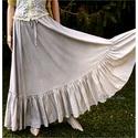 """ARSENE  design-szoknya, Ruha, divat, cipő, Női ruha, Szoknya, Körgloknis,""""felhős""""-szürkés festésű romantikus modellem a hosszú-szoknyák kedvelőinek ajánlom.  Lage..., Meska"""