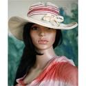 SZŐTTES vászon-kalap, Nőiesen bájos és egyedi:  Ideális, béleletlen...