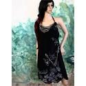 BARI - applikált design-ruha, Ruha, divat, cipő, Női ruha, Ruha, Egy nyomott-mintás vintage jersey-ruha átszabásából született modellem.  Önmagában szexi-nyári, hűvö..., Meska