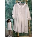 ANNIE - lagenlook dupla-ruha , Ruha, divat, cipő, Női ruha, Textil, Muszlin-könnyedségű fehér pamutbatisztból  készült új modellemet korhatár nélkül hordhatod:  Térdig-..., Meska