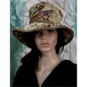GOBELINA - design-kalap, Ruha, divat, cipő, Kendő, sál, sapka, kesztyű, Sapka, Női ruha, A VINTAGE SZERELMESEINEK:   Igazi kalap-különlegesség!  Egy antik terítőből terveztem. Stílszerűen ó..., Meska