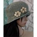 VERONA - flapper-kalap, A '20-as évek stílusában készült, mélyen fej...