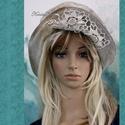 MOMO - design-kalap, Foltocskásan kézzel festett kordból készített...
