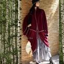 LEPKE kabát - lagenlook fashion design, Ruha, divat, cipő, Női ruha, Kabát, Poncsó, Varrás, POLÁR PELERIN = MINDENNEK A TETEJÉRE!!! Nagyméretű tunikáim, ruháim fölé terveztem ezt a lepke-szab..., Meska
