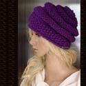 CSIGASAPI - püspöklila, Meleg, romantikus luxus-kalapka csigamintával kö...