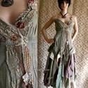 ETA - art to wear design ruha, Ruha, divat, cipő, Képzőművészet, Női ruha, Textil, A művészi vintage stílus szerelmeseinek ajánlom e kollekcióm aprólékos munkával és sok-sok szeretett..., Meska